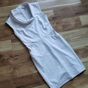 Ponte Knit Dress with Pockets cowl Neck